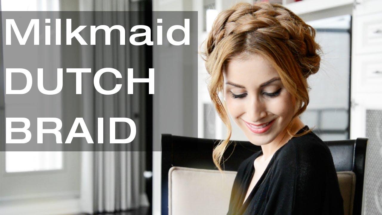Milkmaid braids for short or fine hair.