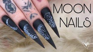 Watch Me Work: Recreating My Clients Tattoo | Halloween Nail Art Tutortial | Moon Nails