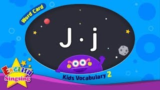 "Kids vocabulary compilation ver.2 - Words Cards starting with J, j - Repeat after ""Ting (sound)"""