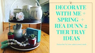 Decorate With Me + Spring +  2 Tier Tray Ideas