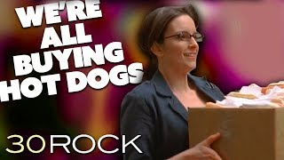 Liz Lemon Is Buying All The Hot Dogs | 30 Rock | Comedy Bites