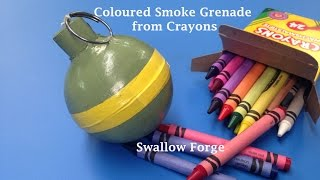 How to make Coloured smoke from Wax Crayons.