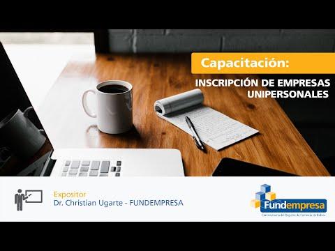 Inscripción de Empresas Unipersonales 1