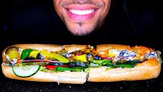 ASMR FOOTLONG SUBWAY TUNA SANDWICH MUKBANG EATING NO TALKING