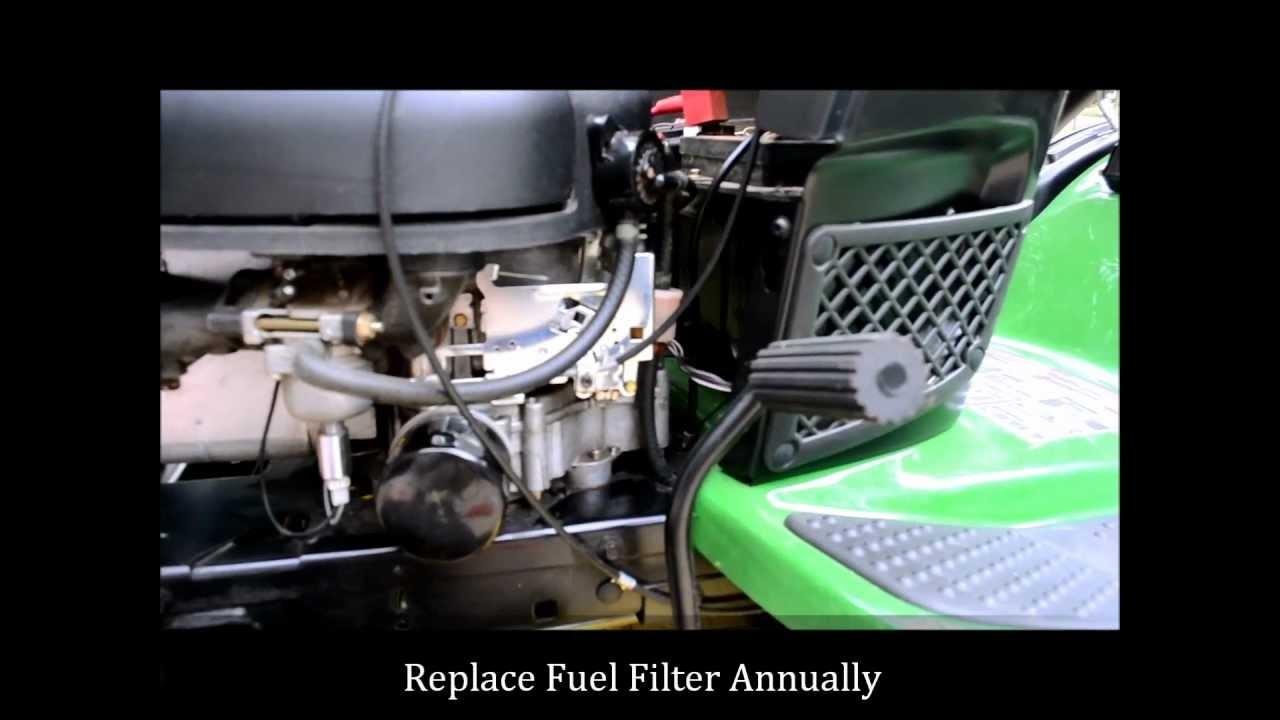 how to change a john deere lawn mower fuel filter youtube. Black Bedroom Furniture Sets. Home Design Ideas