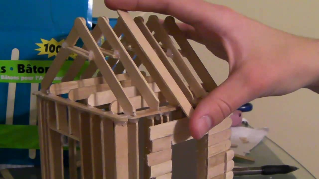 4 6 How To Build A Popsicle Stick House Roofing Part 1