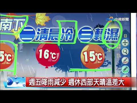 立綱氣象報報~冷氣團南下 溫降明顯 明晨低溫13度│中視晚間氣象 20191202