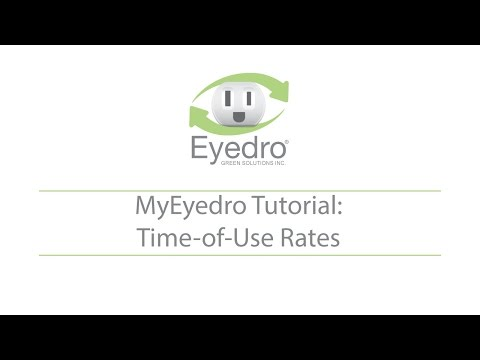 MyEyedro Tutoral: Rate Configuration - Time-of-Use