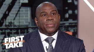 Magic Johnson says Lakers GM was 'backstabbing,' Luke Walton firing was the final straw | First Take