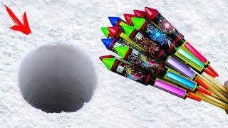 EXPERIMENT: XXL ROCKETS UNDER SNOW