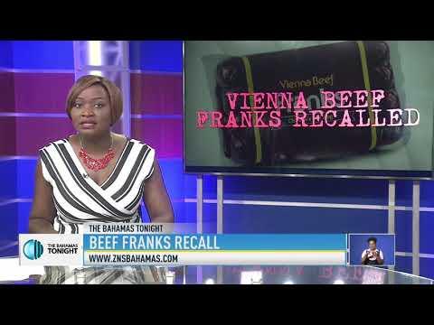BEEF FRANKS RECALL