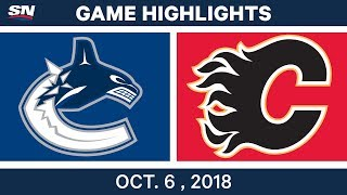 NHL Highlights | Canucks vs. Flames - Oct. 6, 2018