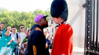 he tried to mess with a royal guard..