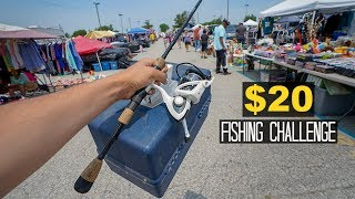 $20 FLEA MARKET Fishing Challenge!! (Treasure)