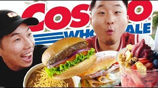 TRYING COSTCO'S NEW FOOD COURT MENU (No More Polish! Acai Bowl, Burgers) // Fung Bros