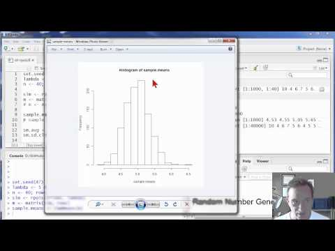 R Programming: r stat intro: central limit theorem
