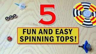 5 Fun and Easy SPINNING TOYS You Can Make!