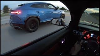 LAMBORGHINI URUS TRIED TO BULLY MY FBO E85 MUSTANG GT!!