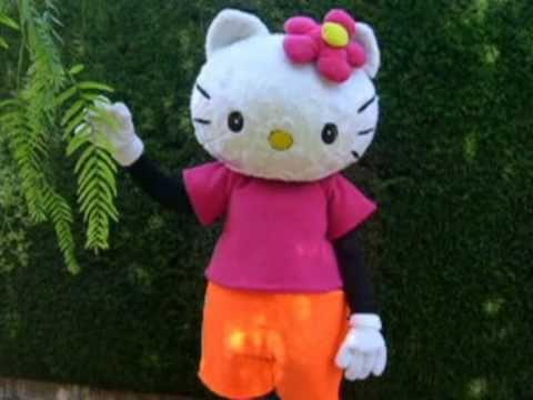 baila chuchua hello kitty,bob esponja ,mickey