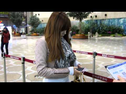 121108 SNSD departed Gimpo Airport [FANCAM]