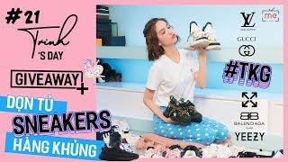 Ngọc Trinh - My Day #20 | Dọn Tủ Giày Sneaker Siêu To Khổng Lồ + Giveaway Lì Xì Fan Cứng