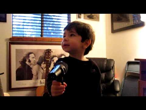 How Deep is Your Love by the Bee Gees sung by Anthony, 3 year old fan