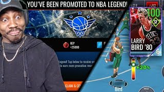 HACKING WITH 100 OVR LARRY BIRD TO BECOME NBA LEGEND IN SHOWDOWN! NBA Live Mobile 18 Gameplay Ep. 45