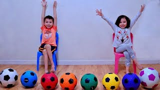 Learn The Colors for Children and Toddlers with Soccer Ball