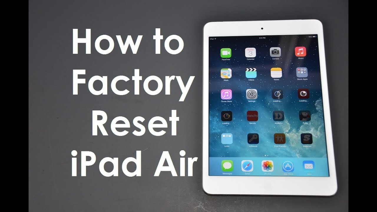 How to Factory Reset / Master Wipe iPad / iPhone iOS8 or iOS7 - YouTube