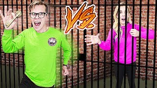 GAME MASTER Escape Room Challenge! (Husband Vs. Wife in Real Life) Rebecca Zamolo
