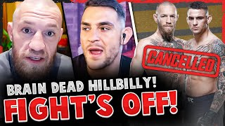 BREAKING! Conor McGregor announces FIGHT'S OFF w/ Dustin Poirier & GOES OFF! (WANTS NEW OPPONENT)