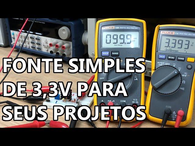 FONTE DE 3,3V BEM SIMPLES PARA O INICIANTE!