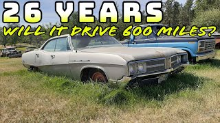 Will It RUN AND DRIVE 600 Miles Home?1968 Buick LeSabre 400 FORGOTTEN For 26 YEARS!