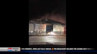 Commercial building burns for 8+ hours in Gallatin Gateway