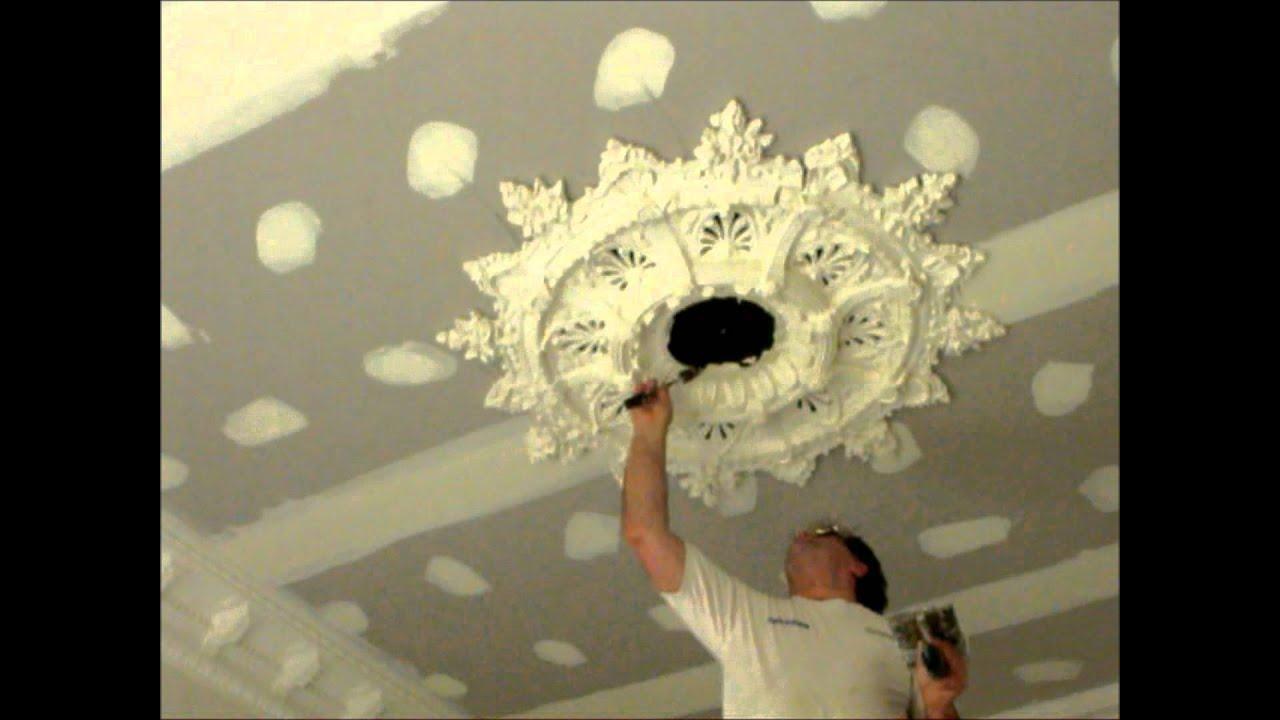 Plastering Large Ceiling Rose Installation Hawthorn