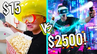 $15 VS $2,500 GAMING ROOMS! *Budget Challenge*