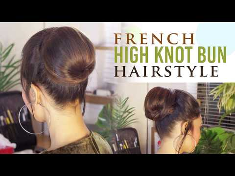 French knot hair  Bun Hairstyle |  2 Types of Making Tutorial | फ्रेंच हाई बन