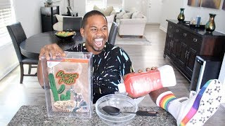 I Try Travis Scott $50 Cereal   Taste Test   Alonzo Lerone
