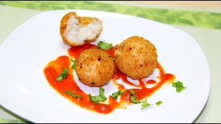 Cheesy Rice Balls Recipe from Leftover Rice | Arancini Recipe