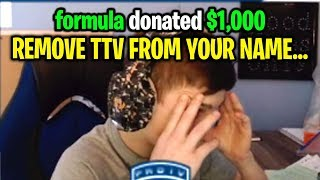 I donated to Twitch streamers to REMOVE TTV from their Fortnite name...