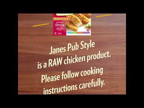 VIDEO: Watch this short video to learn more about safe cooking practices for frozen raw breaded/battered chicken products.