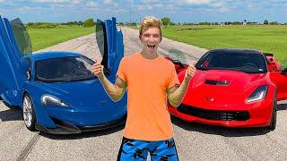 WORLDS FASTEST CAR WINS $10,000!! ($1Million Top Secret Reveal)