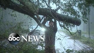 Rescues underway after massive storm surge ravages coastal town