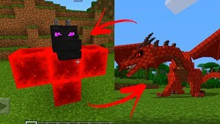 5 TRUCOS CON LA CABEZA DE DRAGON EN MINECRAFT PE - POCKET EDITION