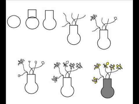 how to draw a vase with flowers simple step by step drawing tutorial youtube. Black Bedroom Furniture Sets. Home Design Ideas