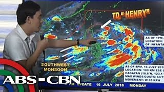 WATCH: PAGASA 5pm briefing on Tropical Depression Henry | 16 July 2018