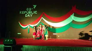 Group singing by Jagrati kids on 69th republic day❤️