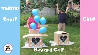 10 Twin Gender Reveal Compilation 2018 / Twins Pregnancy Announcement