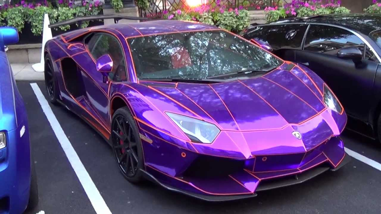 Epic Chrome Purple Lamborghini Aventador By Lb Performance
