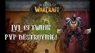 World of Warcraft- Level 19 Twink PvP INSANE!